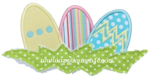 #1033 Easter Eggs Applique Design