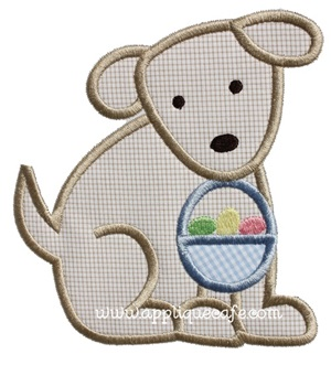 Easter Puppy Applique Design