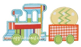 Easter Train Applique Design