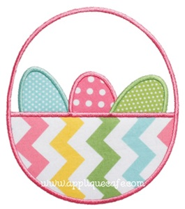 Easter Basket Applique Design