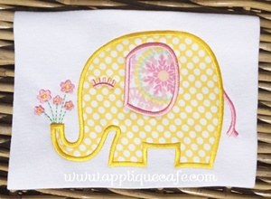 Elephant 5 Applique Design