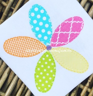 #1034 Flower 9 Applique Design