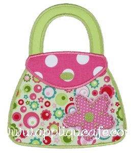 Flower Purse Applique Design