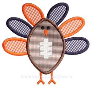 Football Turkey Applique Design