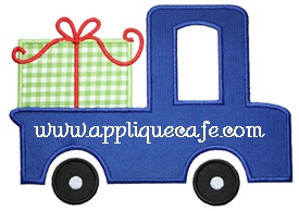 Gift Truck Applique Design