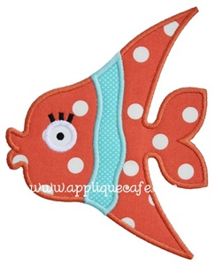 Girly Fish 2 Applique Design