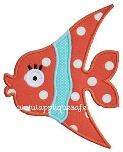 #787 Girly Fish 2 Applique Design