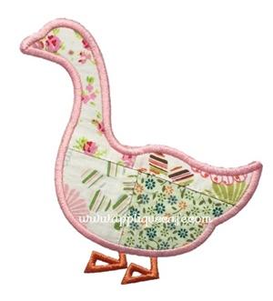Goose Applique Design