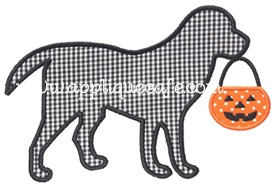 Halloween Dog Applique Design