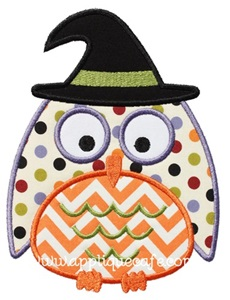 Halloween Owl Applique Design