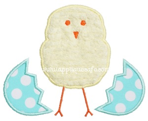 Hatched Chick Applique Design