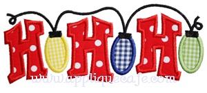 HoHoHo Lights Applique Design