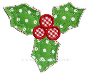 #960 Holly Applique Design