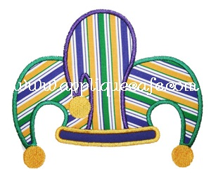 Jester Hat Applique Design