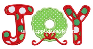 Joy 3 Applique Design