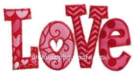 Love Applique Design