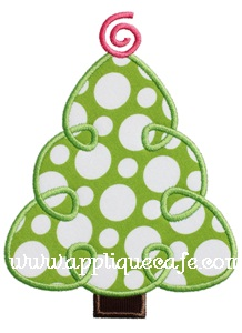 Loopy Christmas Tree Applique Design