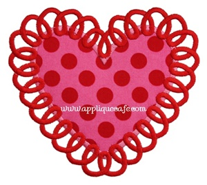 Loopy Heart 2 Applique Design