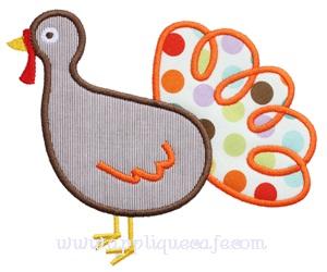 Loopy Turkey Applique Design
