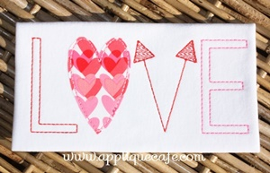 #970 Love 4 Applique Design