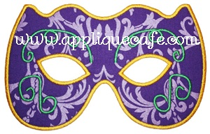 Mardi Gras Mask Applique Design