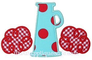 #489 Megaphone 2 Applique Design