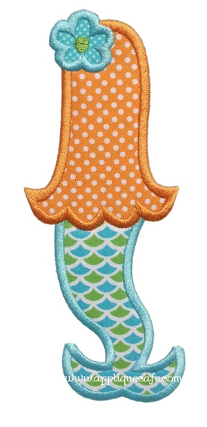 Mermaid 2 Applique Design