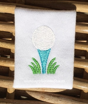 Mini Golf Ball 2 Embroidery Design