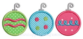 Ornament Trio Applique Design