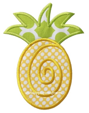 #1000 Pineapple 2 Applique Design