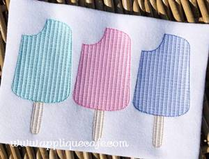 Popsicle Trio Embroidery Design