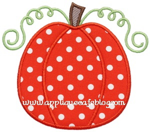 Pumpkin 4 Applique Design