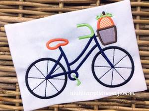 Pumpkin Bicycle Applique Design