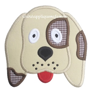 #1035 Puppy Face 4 Applique Design