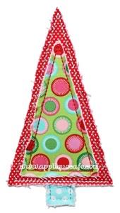 Raggy Christmas Tree 2 Applique Design