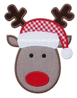 Reindeer 3 Applique Design