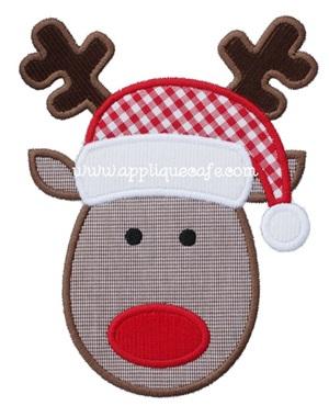 Reindeer 3 Applique Design