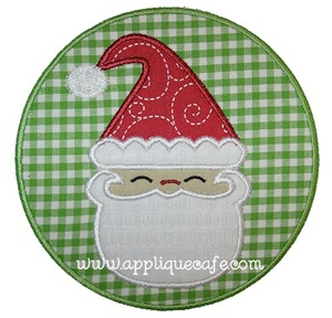 Santa Patch Applique Design