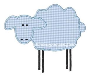 Sheep Applique Design