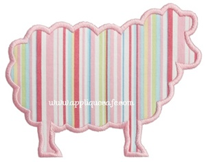 Simple Sheep Applique Design