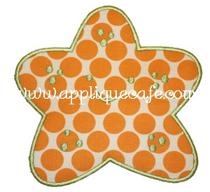 Starfish Applique Design