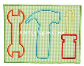 Tool Trio Patch Applique Design