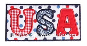 USA Patch Applique Design