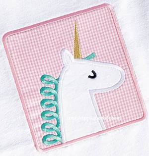 Unicorn Patch Applique Design