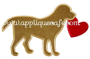 Valentine Dog Applique Design