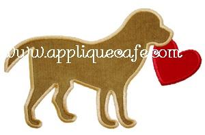 Valentine Dog Applique Design