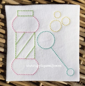 #1030 Vintage Bubbles Embroidery Design
