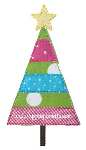 Vintage Christmas Tree 2 Applique Design
