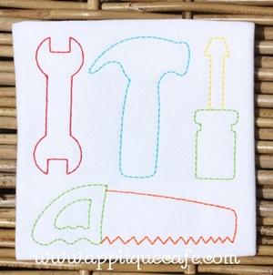 Vintage Tools Embroidery Design