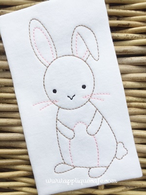 #1038 Vintage Bunny Embroidery Design